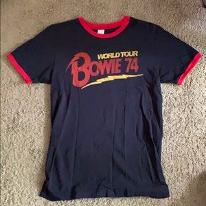 David Bowie world tour tee
